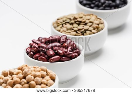 Red Kidney Beans And Blurred Legumes.