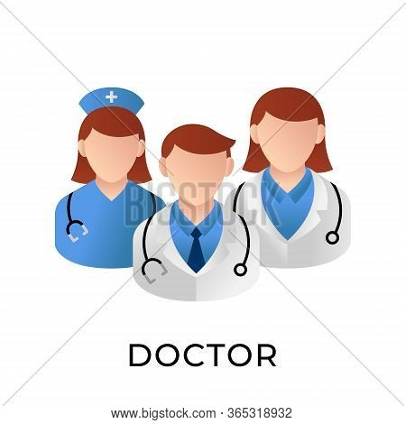 Doctor. Doctor icon. Doctors vector. Doctor icon vector. Doctor illustration. Doctor logo template. Doctor and patient icon design. Medical Doctor icon vector. Doctor vector icon flat design for web icons, logo, sign, symbol, app, UI.