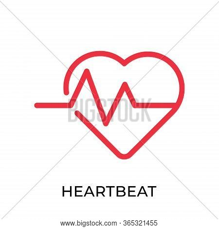 Heartbeat. Heartbeat icon. Heartbeat line vector. Heart beat icon vector. Heartbeat illustration template. Heartbeat logo design. Medical Heartbeat icon vector. Heartbeat vector icon flat design for web icons, logo, sign, symbol, app, UI.