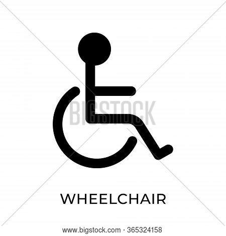 Wheelchair. Wheelchair icon. Wheelchair vector. Wheelchair icon vector. Wheelchair illustration template. Wheelchair silhouette design. Wheel chair vector icons. Wheelchair vector icon flat design for web icons, logo, sign, symbol, app, UI.