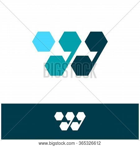 W. W Monogram Logo. W Letter Logo Design Vector Illustration Template. W Logo Vector. Creative Lette