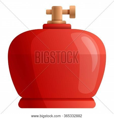 Filling Gas Cylinder Icon. Cartoon Of Filling Gas Cylinder Vector Icon For Web Design Isolated On Wh