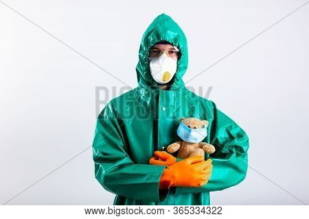 Protecting Children During Covid-19 Pandemic Symbolic Stock Photo