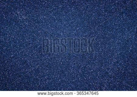 Abstract Grain Background, Dark Blue Granular Texture. Grunge Wall Shiny Surface. Pantone Color Tren