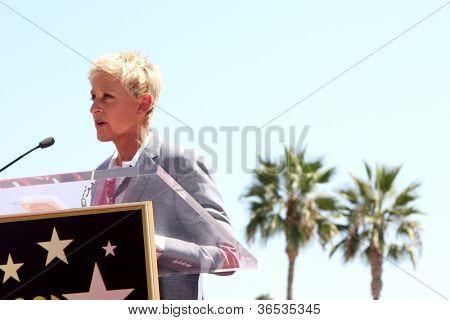 LOS ANGELES - SEP 4:  Ellen DeGeneres at the Hollywood Walk of Fame Ceremony for Ellen Degeneres at W Hollywood on September 4, 2012 in Los Angeles, CA