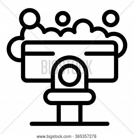 Wet Cleaning Icon. Outline Wet Cleaning Vector Icon For Web Design Isolated On White Background