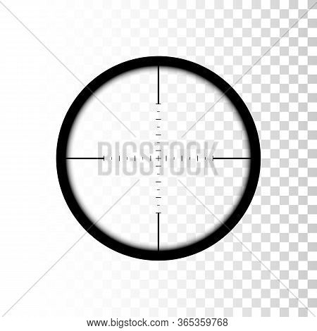 Sniper Scope. Focus On Target Through Sniper Scope. Vector