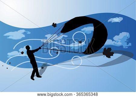 Kite Soar Let Stunt Direct Wind Sky