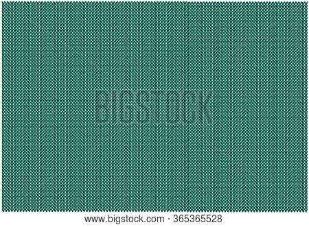 Knitted Pattern In Background Shade Ultramarine Green.template From The Palette Of The Year Autumn 2