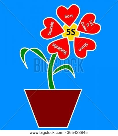 5S concept in the form of potted plant