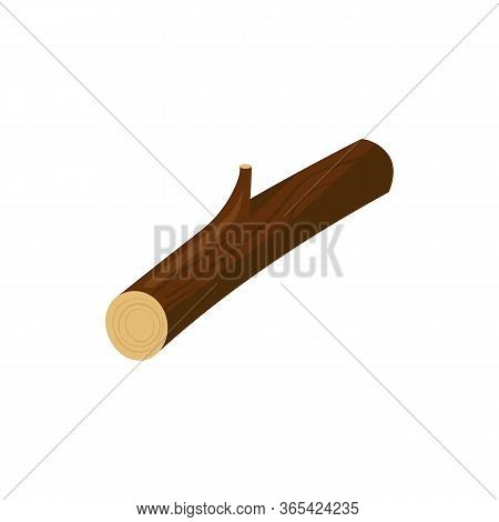 Wooden Log Illustration. Tree Trunk, Firewood, Sawmill. Wood Concept. Can Be Used For Topics Like Fo