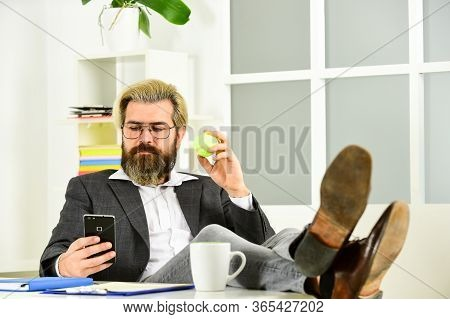 Office Job. Business Manager Relaxing. Business Concept. If You Want To Succeed, You Have To Take Ac