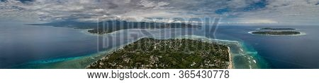Gili Islands Aerial View As Seen From Gili Air Indonesia