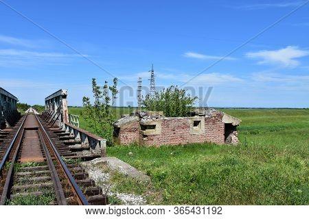 German Bunker From Great War Near Railway Bridge In East Serbia