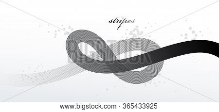 Abstract Elegant Grey Curvy Thin Lines Vector Abstract Background, Elegant Light Stripy Design Eleme