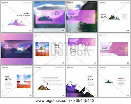 Brochure Templates. Covers Design Templates For Square Flyer, Leaflet, Brochure, Report, Presentatio