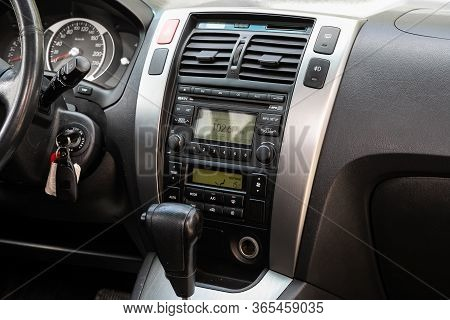 Novosibirsk/ Russia - May 02 2020: Hyundai Tucson, Close-up Of The Central Control Panel, Monitor Wi