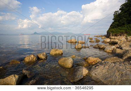 Nakhodka Bay. Russia. Primorsky Kray. Japan sea.
