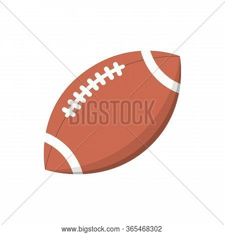 American Football Ball. Touchdown, Match, Rugby. Can Be Used For Topics Like League, Game, Goal