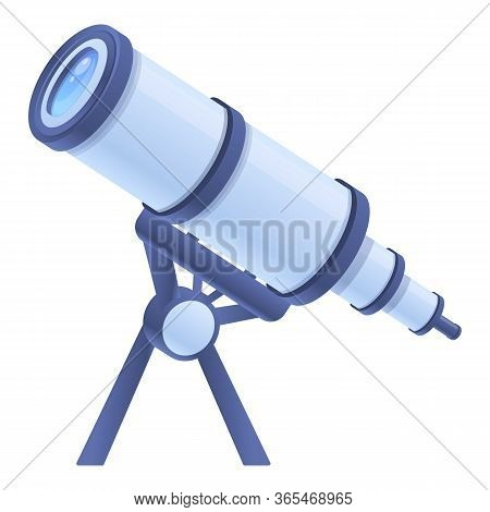 Astronomy Spyglass Icon. Cartoon Of Astronomy Spyglass Vector Icon For Web Design Isolated On White