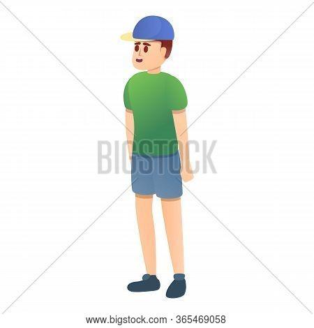 School Boy In Planetarium Icon. Cartoon Of School Boy In Planetarium Vector Icon For Web Design Isol