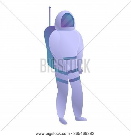 Astronaut Icon. Cartoon Of Astronaut Vector Icon For Web Design Isolated On White Background