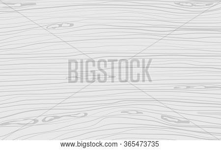 White Horizontal Wooden Cutting, Chopping Board, Table Or Floor Surface. Wood Texture. Vector Illust
