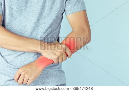 Wounds At The Arm,bandages A Hand Wound Pain Medicine