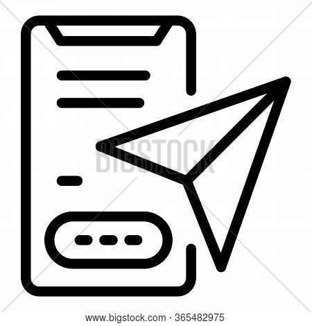 Messenger Application Icon. Outline Messenger Application Vector Icon For Web Design Isolated On Whi