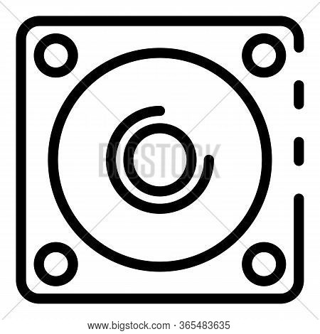 Sound Loud Speaker Icon. Outline Sound Loud Speaker Vector Icon For Web Design Isolated On White Bac