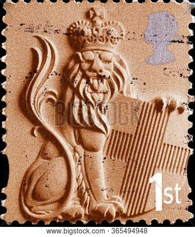 02 11 2020 Divnoe Stavropol Territory Russia Postage Stamp Great Britain Regional Postage Stamps Of
