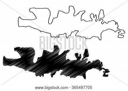 Manisa City (republic Of Turkey, Aegean Region) Map Vector Illustration, Scribble Sketch City Of Man