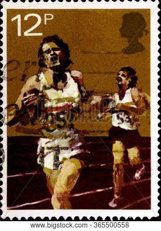 02 08 2020 Divnoe Stavropol Territory Russia The Postage Stamp Great Britain 1980 Anniversaries Spor