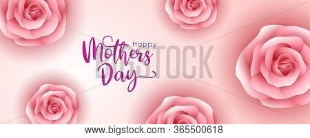 Mother Day, Greeting For Mother Day, Mother Day Background, Mothers Day Card, Rose Flowers With Pink