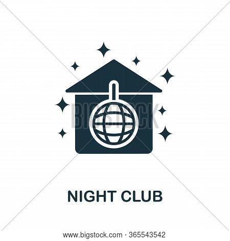 Night Club Icon. Simple Illustration From Night Club Collection. Creative Night Club Icon For Web De