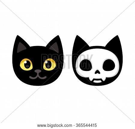 Cartoon Black Cat Vector Photo Free Trial Bigstock