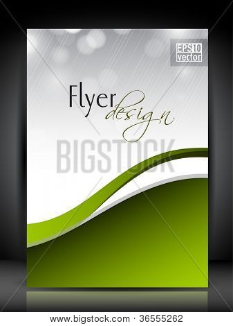 Professional business flyer template or corporate banner design with space for your text, can be use for publishing, print and presentation. Vector illustration in EPS 10.