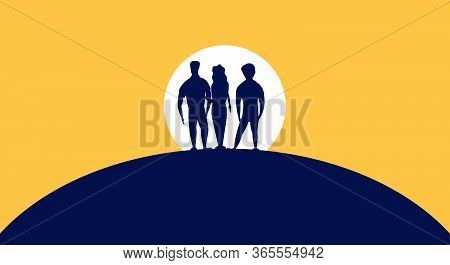 World Refugee Day Concept Immigrant International Background. Human Help Vector Awareness Migrant Hu