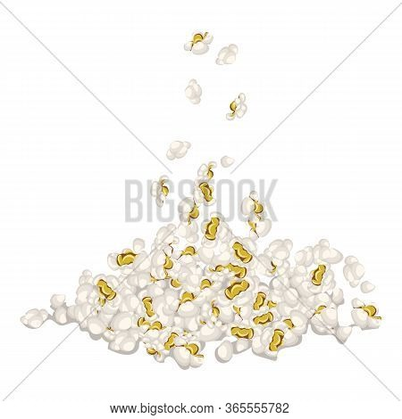 Popcorn Icon. Cartoon Of Popcorn Vector Icon For Web Design Isolated On White Background