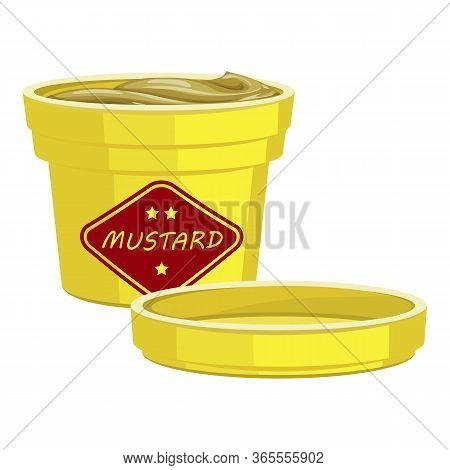 Tasty Mustard Icon. Cartoon Of Tasty Mustard Vector Icon For Web Design Isolated On White Background