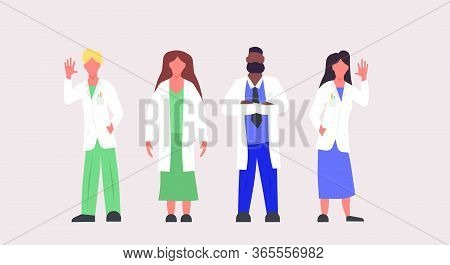 Hospital Doctor Clinic Illustration Professional People Person. Medicine Health Care Man And Woman C