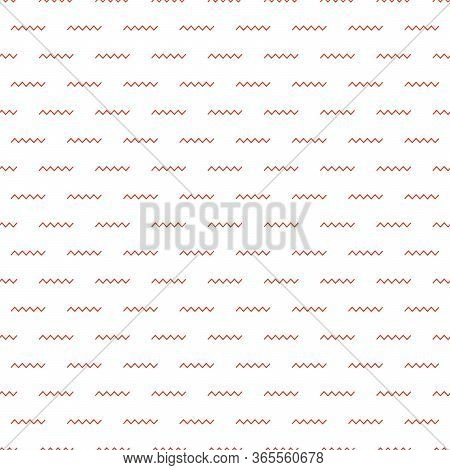 Zigzag Wave Seamless Pattern Background. Modern Stylish Texture. Repeating Geometric Tiles With Hori