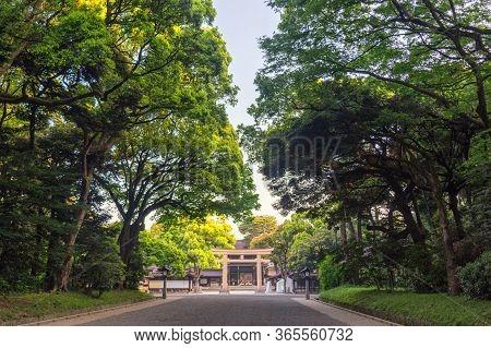 Tokyo / Japan - April 21, 2018: Entrance To Meiji Shrine (meiji Jingu), Shinto Shrine Dedicated To T