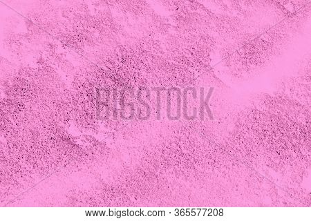 Pink Textured. Painted Plaster. Design Element. Painted Plaster.