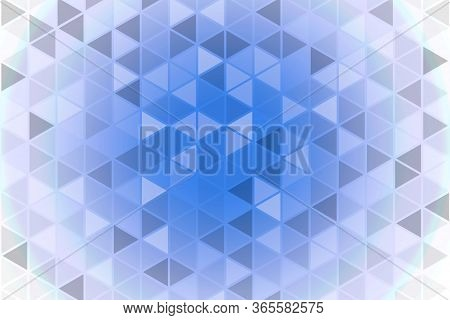 Abstract Geometric Pattern. Triangulars On A Blue Background.