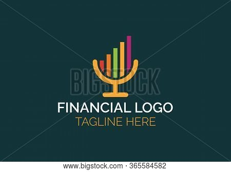 Profit Growing Icon. Isolated Vector Icon. Progress Bar. Growing Graph Icon Graph Sign
