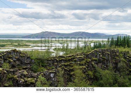 Thingvellir Site, Iceland. Famous Icelandic Landmark. Iceland Golden Circle
