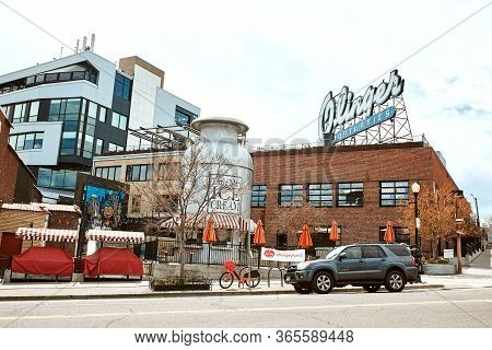 Denver, Colorado - May 1st, 2020:  Exterior Of Little Man Ice Cream In The Lohi Neighborhood Of Down