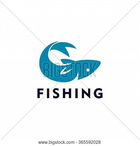 Fishing Logo Vector And Animal, Casting, Catch