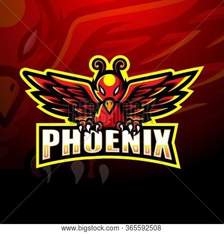 Vector Illustration Of Phoenix Mascot Esport Logo Design